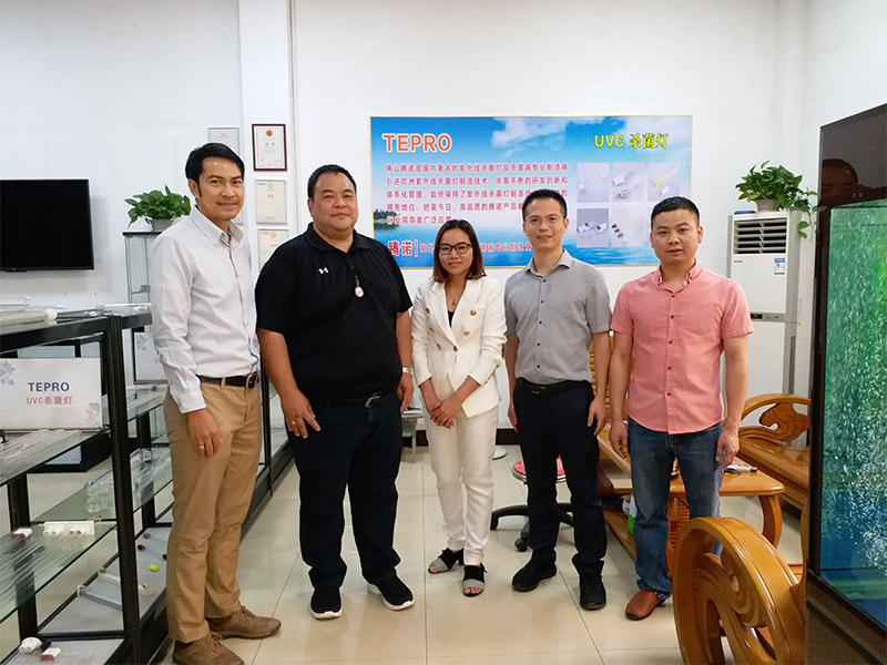Three Thai Guests Visiting Our Company
