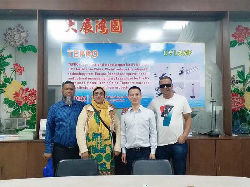 Tepro-Ultraviolet Water Sterilizer Mauritian Guests Visiting Our Company-1