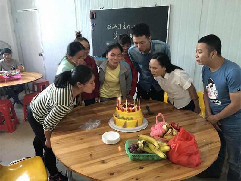 Hold staff meetings and birthday parties every month