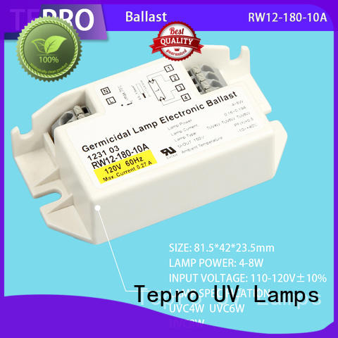 standard uv lamp ballast system for fish tank