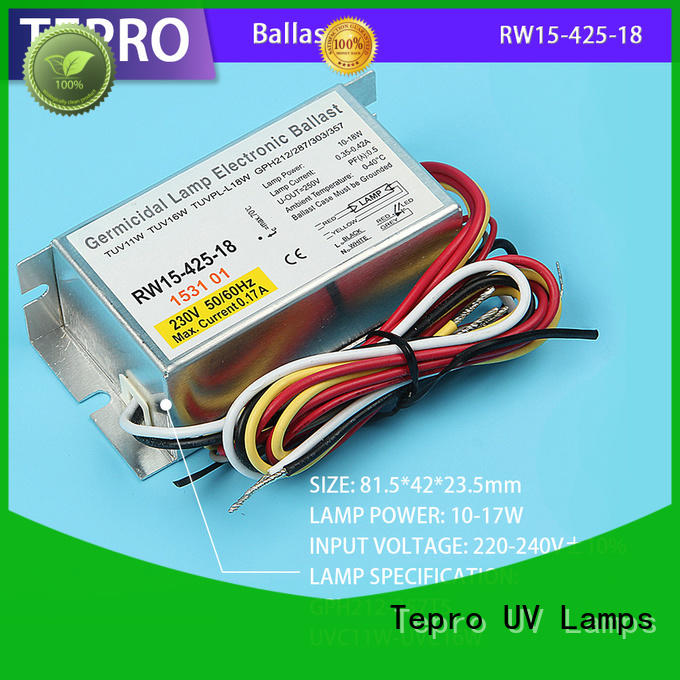 Tepro uv lamp electronic ballast model for factory