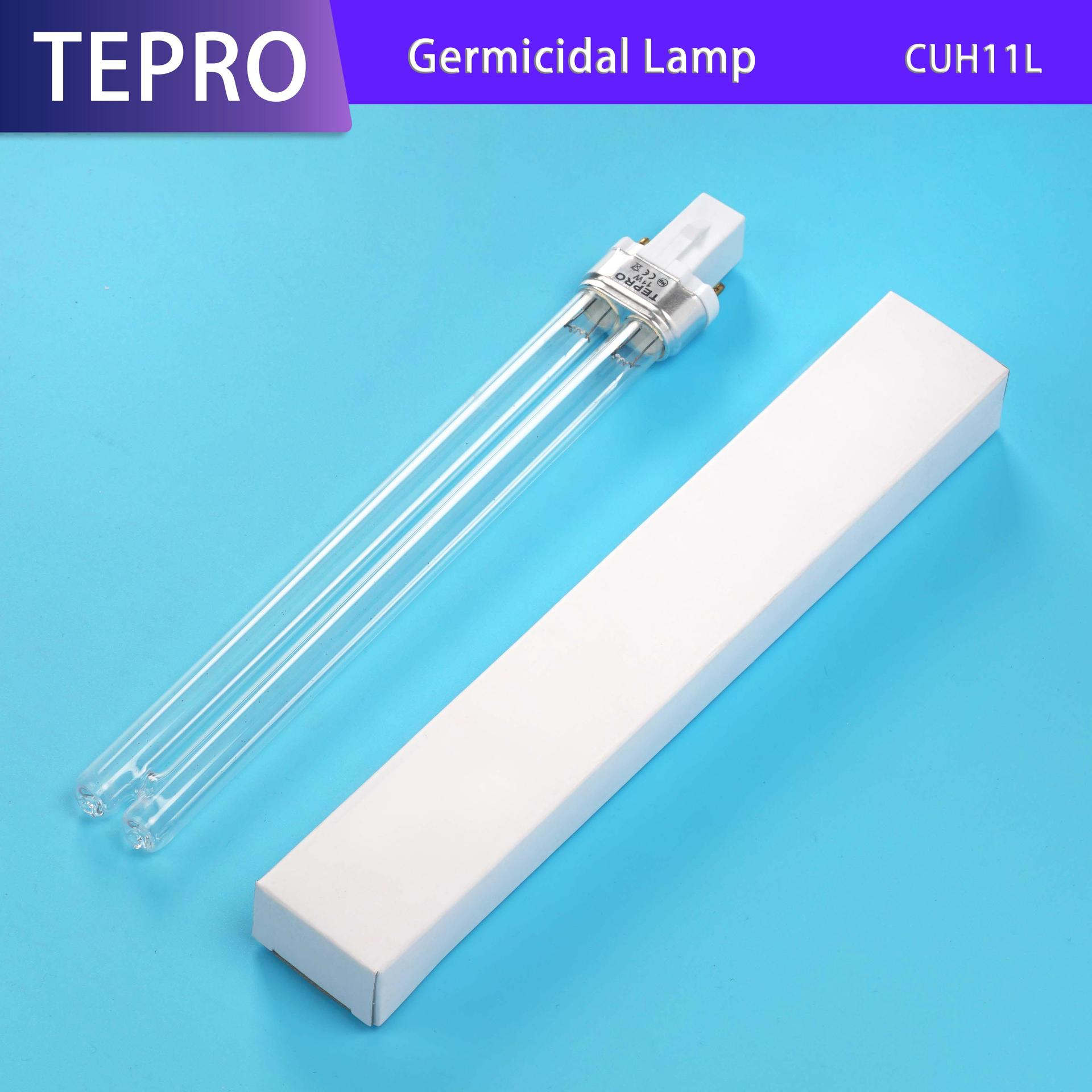 Compact UVC  Lamp 12mm For FISH POND Water Treatment CUH11L