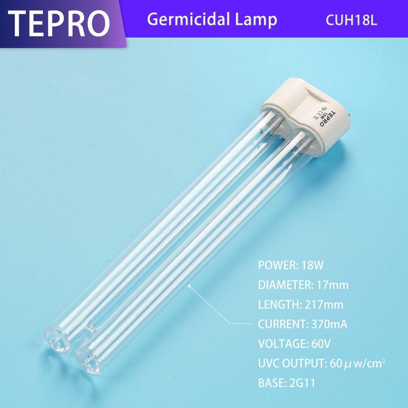 Ultraviolet Disinfection Lamps H Type UV-C Lights 18W CUH18L