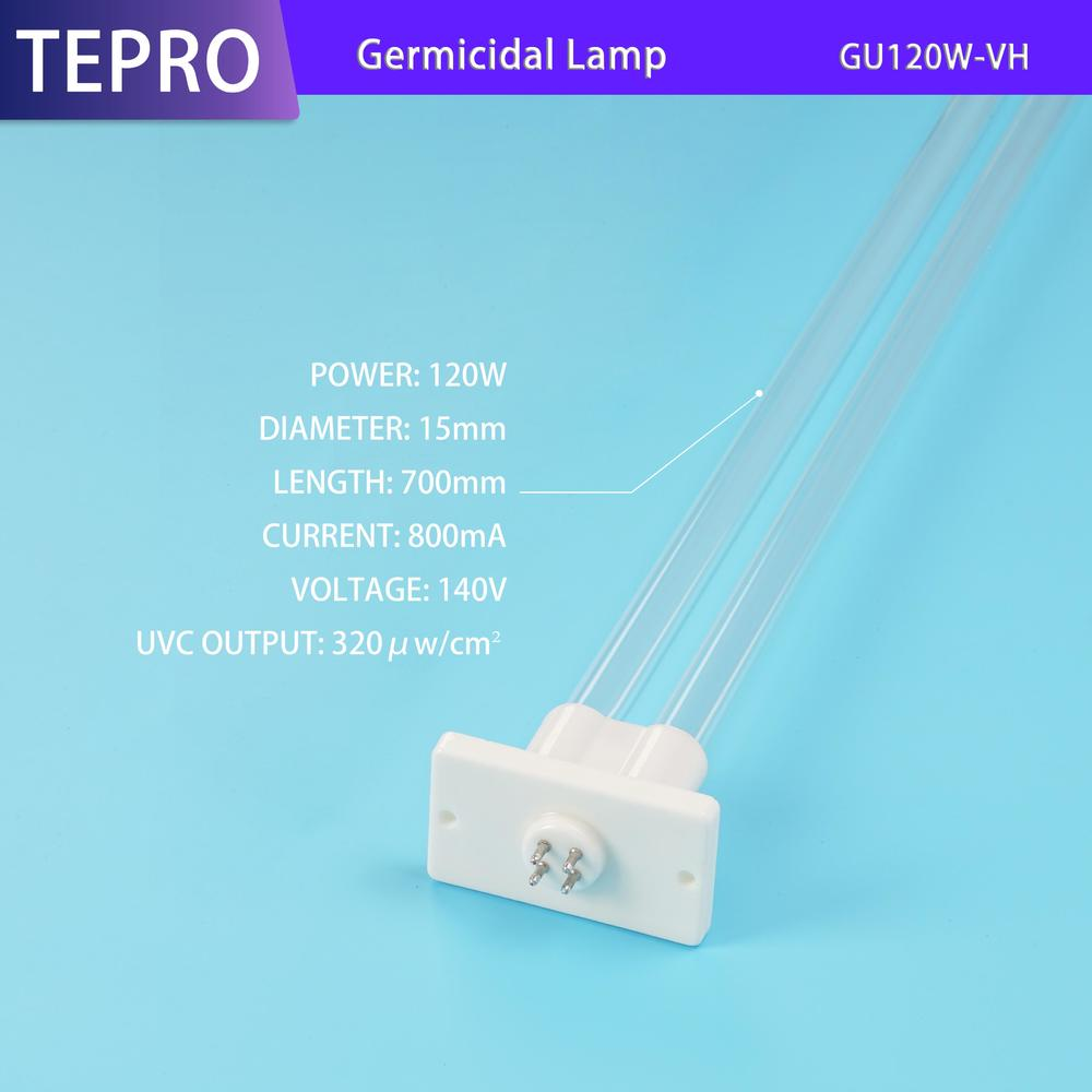 Germicidal Bulb CE Certification  U-Shape 120W GU120W-VH