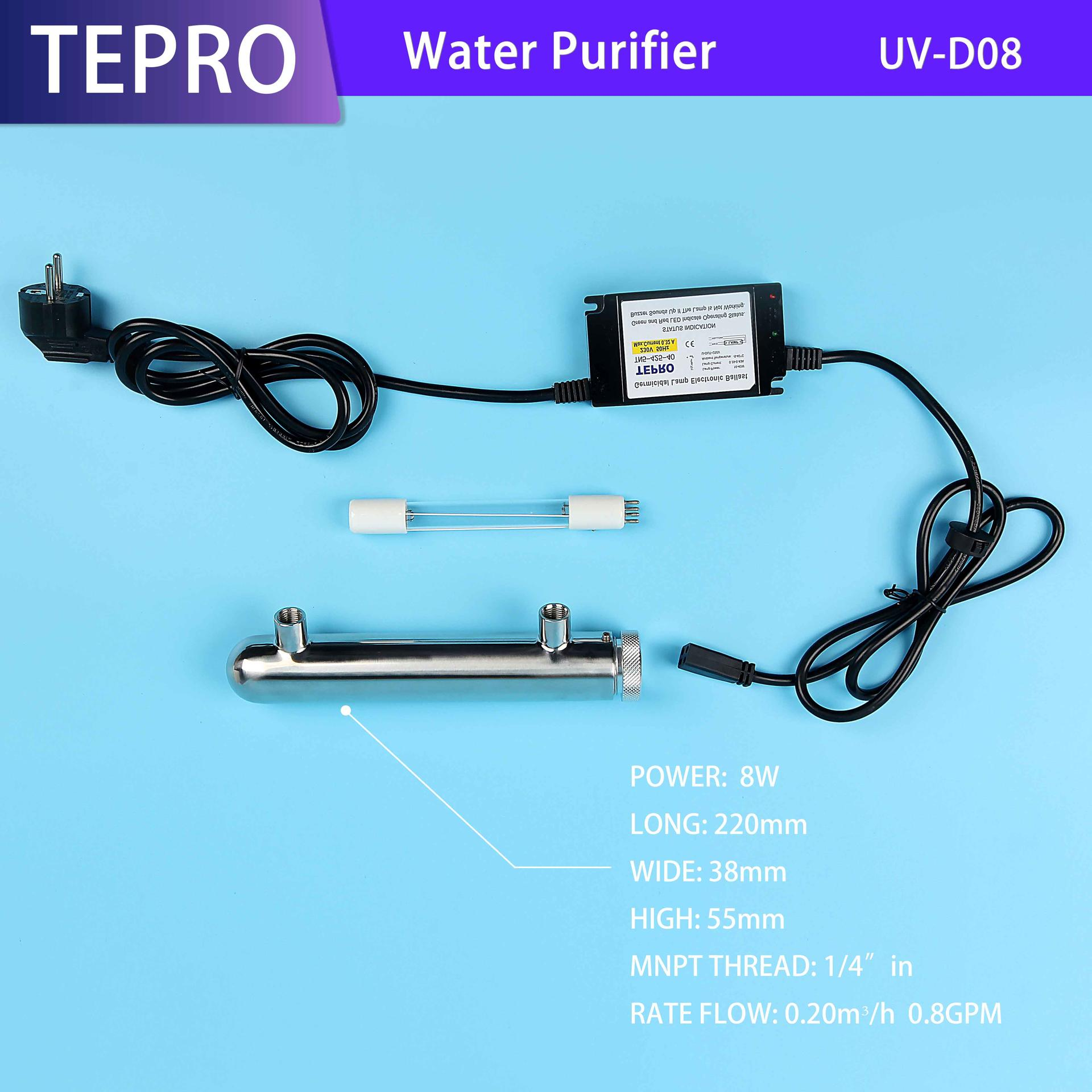 Electronic 8GPM household UV Water Purifier UV-D08