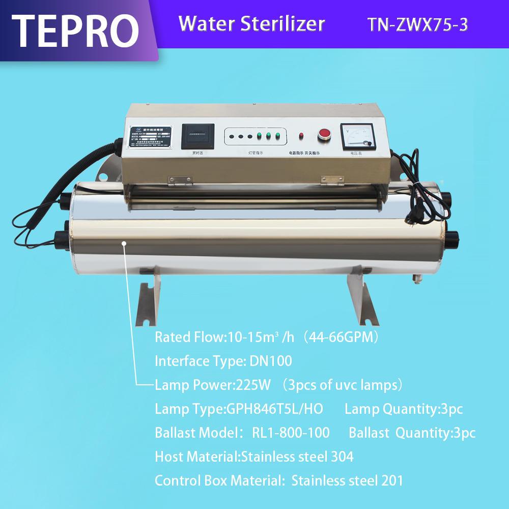 Aquaculture Uv Water Sterilizer Wholesale Price TN-ZWX75-3