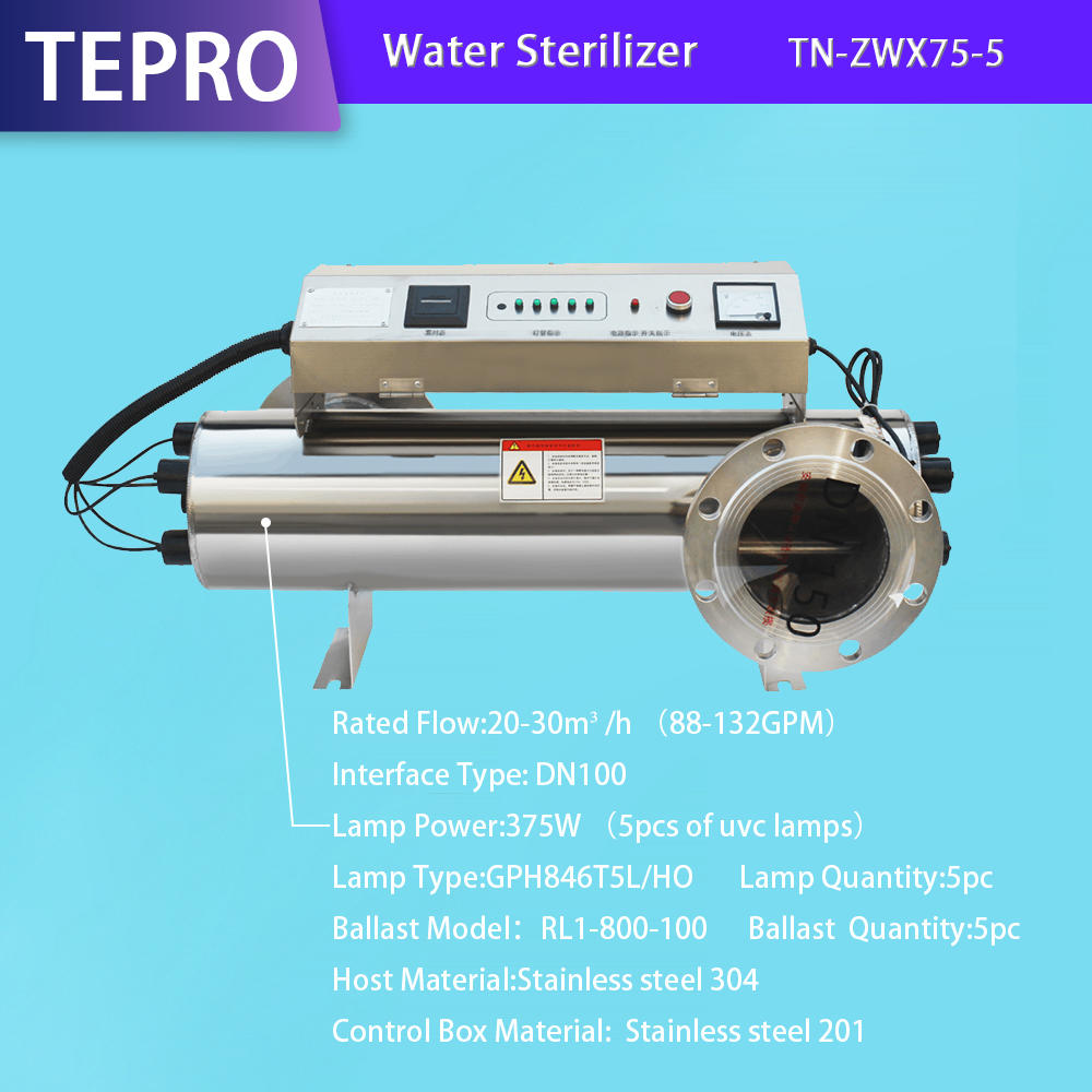 Fish Farm Uv Water Sterilizer TN-ZWX75-5
