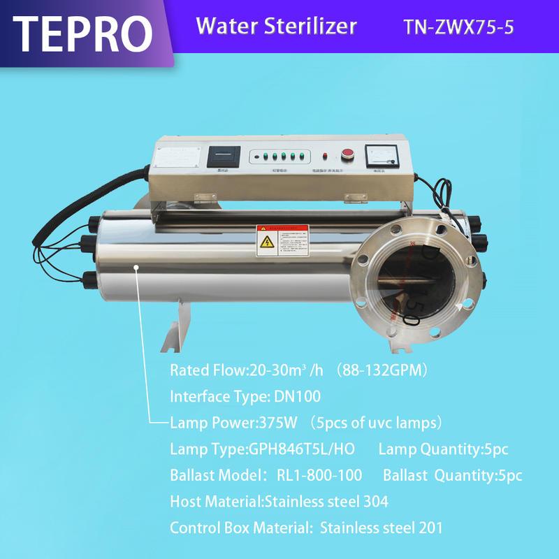Fish Farm Uv Water Sterilizer TN-ZWX75-5