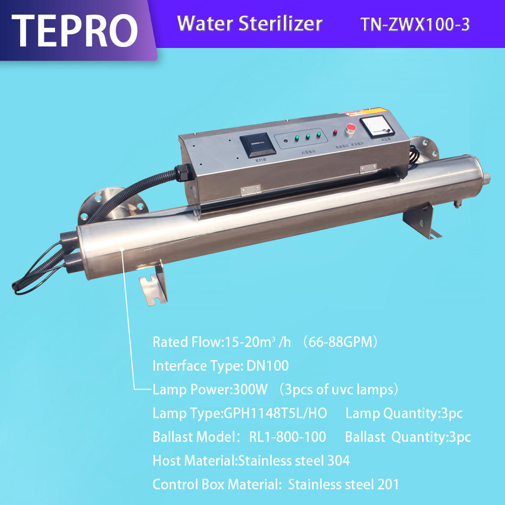 Uv Water Treatment Equipment  DN100 300W TN-ZWX100-3