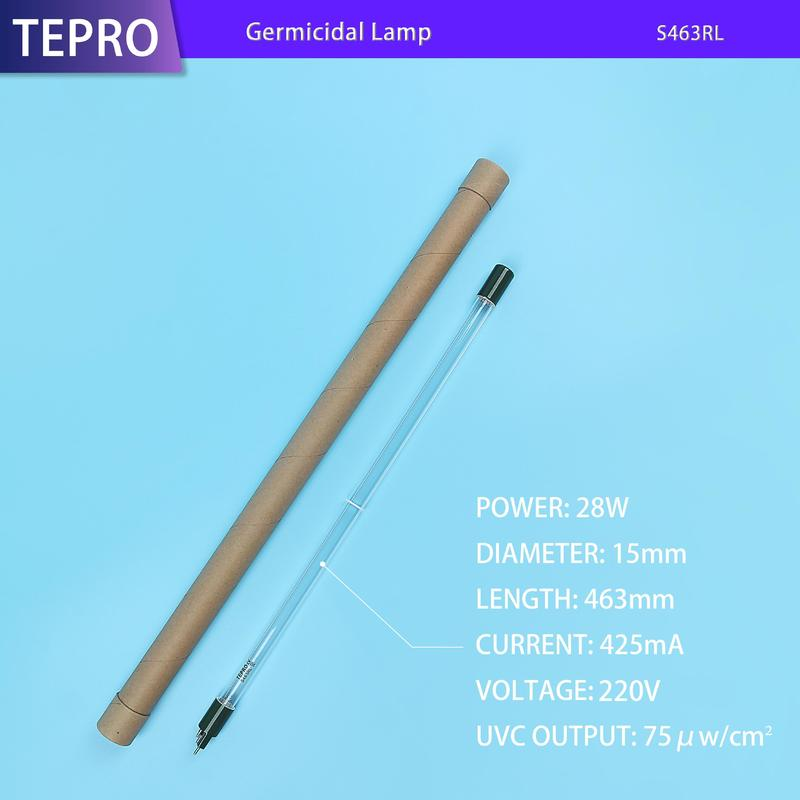 High Output Uv Light Sterilizer Compact Lamp Submersible Lamp S463RL