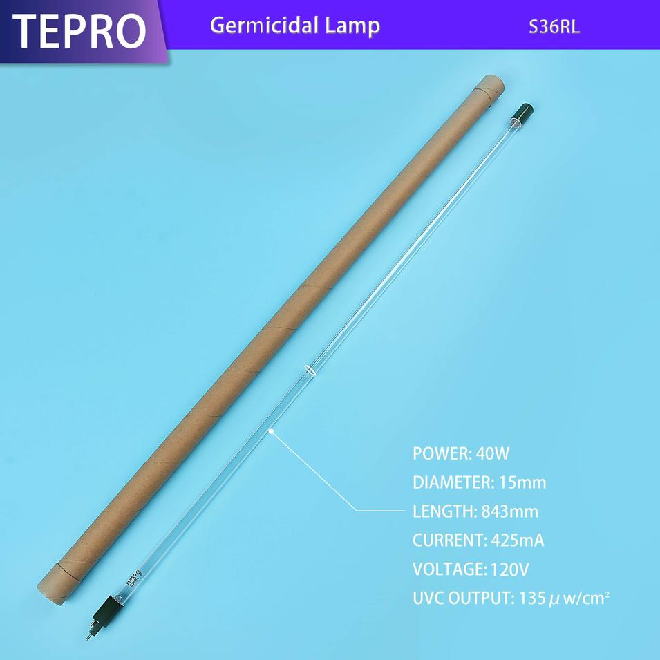 Replacement Uv Disinfection Lamp Good Quality Material Quartz Glass S36RL