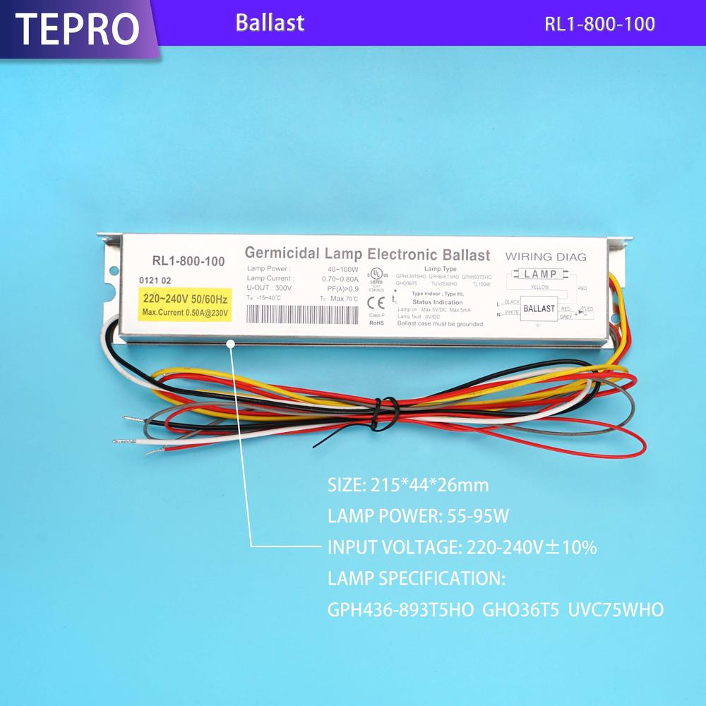 Instant Start Ballast  100w 800mA RL1-800-100