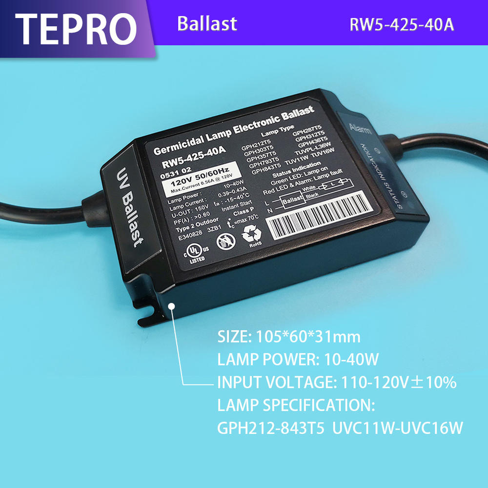 High Quality Uv Lamp Electronic Ballast 110v RW5-425-40A