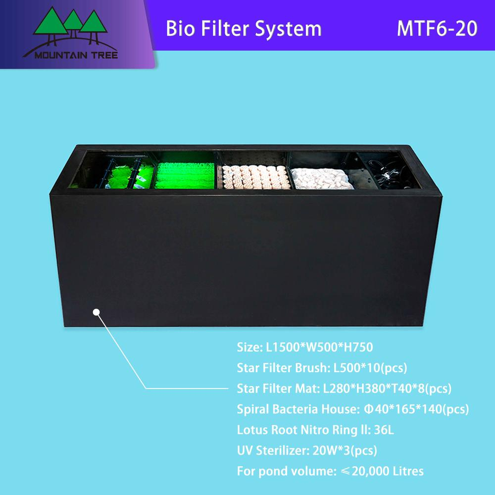 Uv Air Filter Bio Filter System Fish Tank MTF6-20