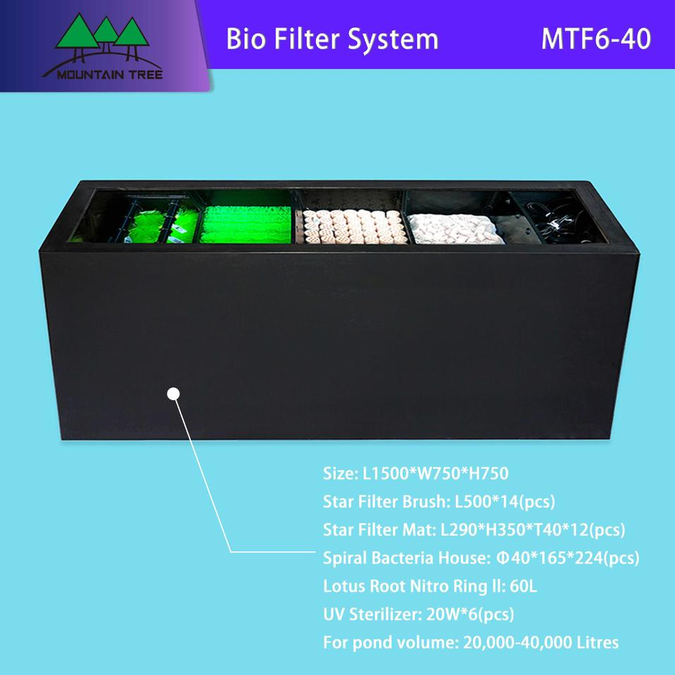 Uv Light Disinfection Bio Filter System MTF6-40