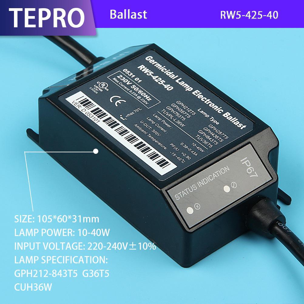 UVC Germicidal Lamp Ballast Electronic Transformer RW5-425-40