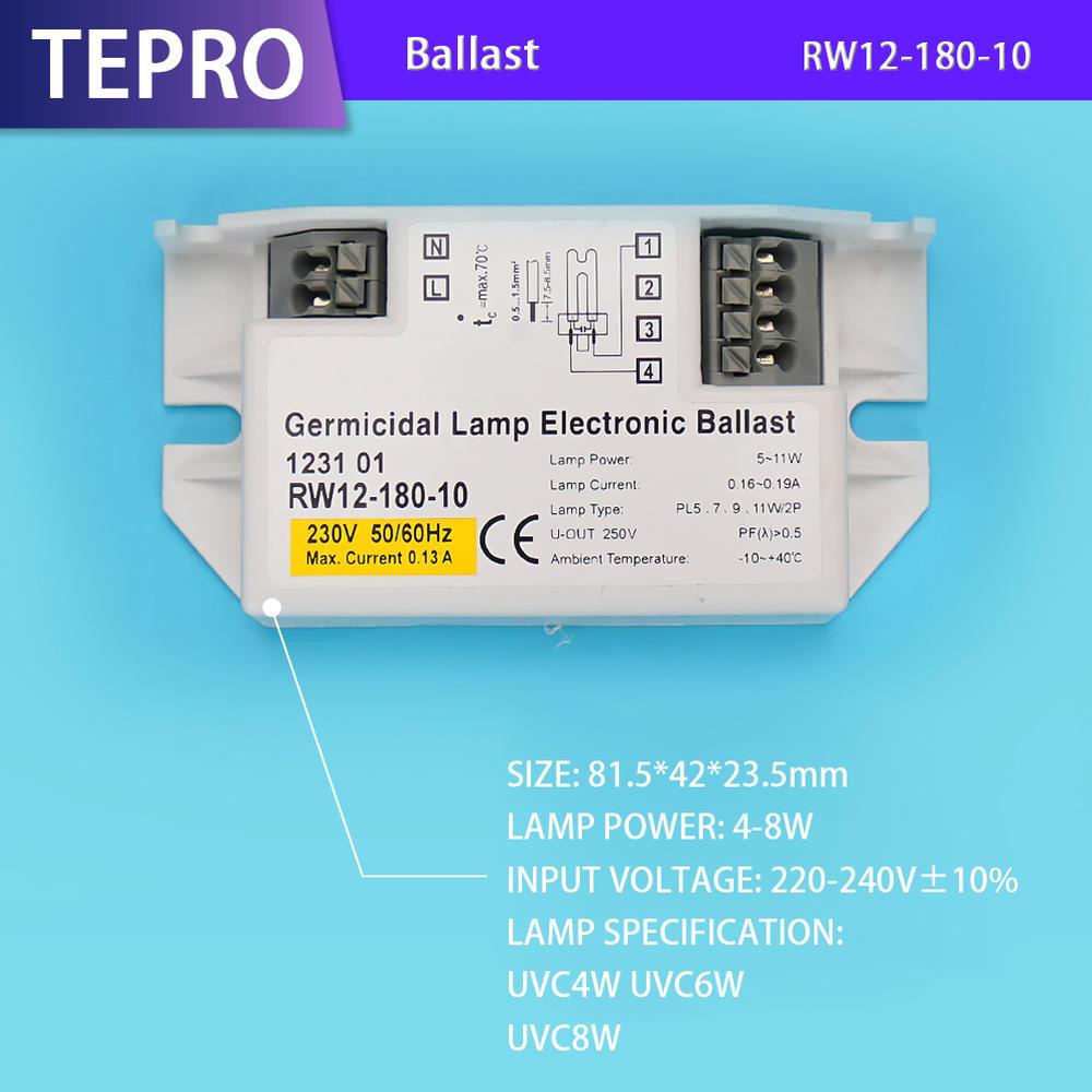 High Quality UVC Lamp Electronic Ballast RW12-180-10
