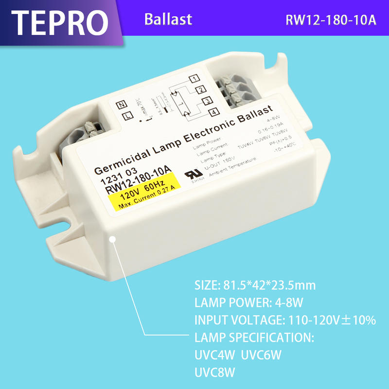 Uv Electronic Ballast 10W RW12-180-10A Hot Sales