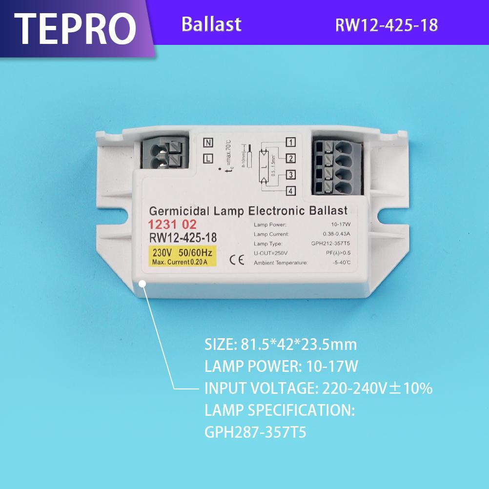 UV Germicidal Lamp Ballast T5 T8 RW12-425-18