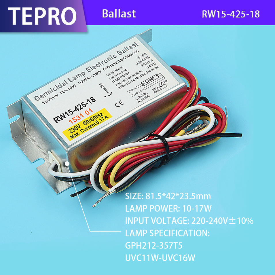 Ultraviolet Ballast Electronic Transformer RW15-425-18