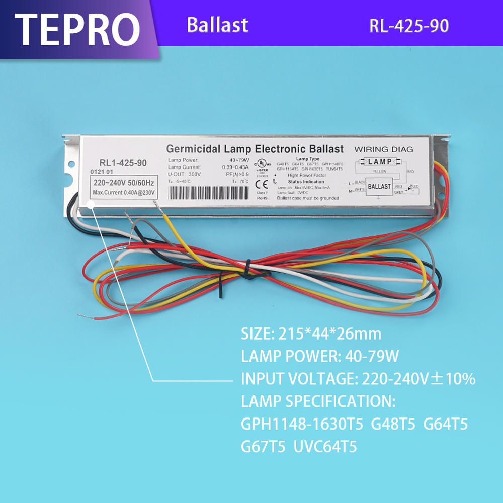Uv Lamp Electronic Ballast RL1-425-90 China Factory