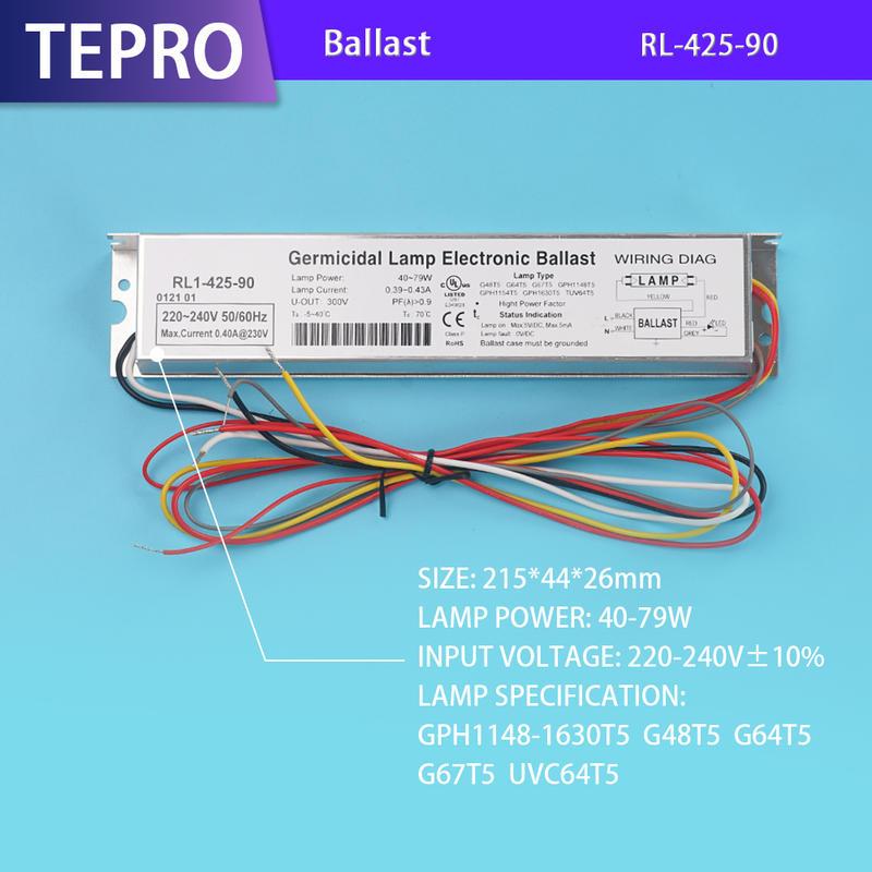 Uv Lamp Electronic Ballast RL1-425-90 China Factory