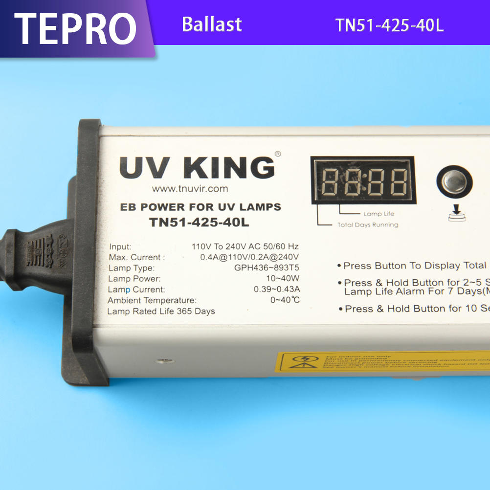 Digital Display Ultraviolet Lamp Ballast TN51-425-40L