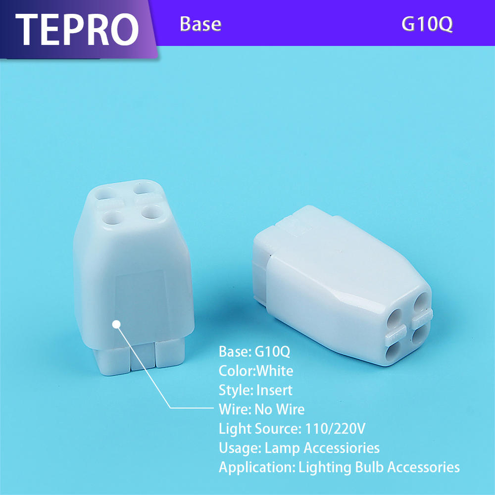UV Portable Lamp Holder 4Pins Plastic G10Q