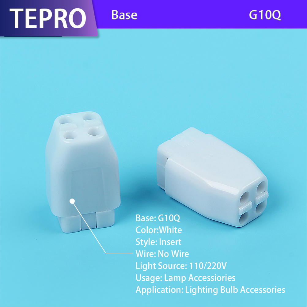 UV Portable Lamp Holder 4Pins Plastic G10Q