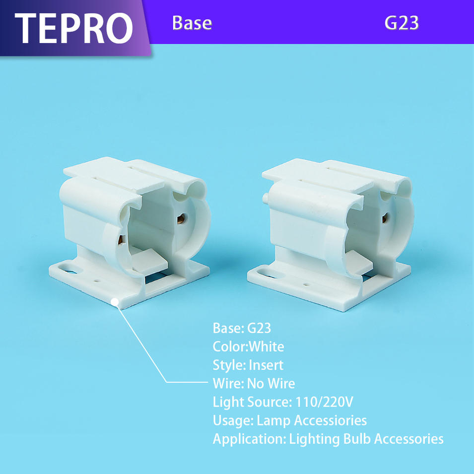 Ultraviolet Radiation Lamp G23 White Plastic Lamp Holder
