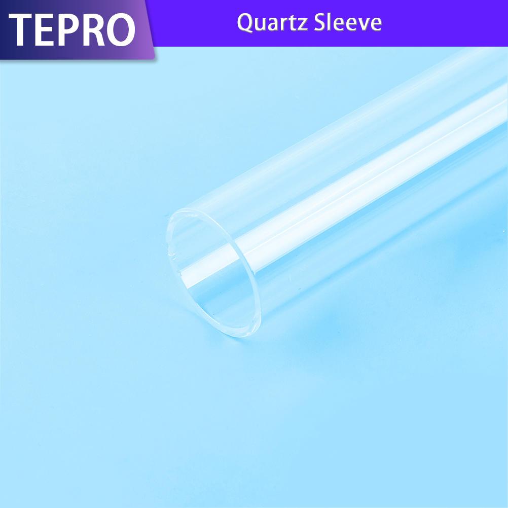 UV Lamp High Temperature Insulation Open Ends Quartz Sleeve
