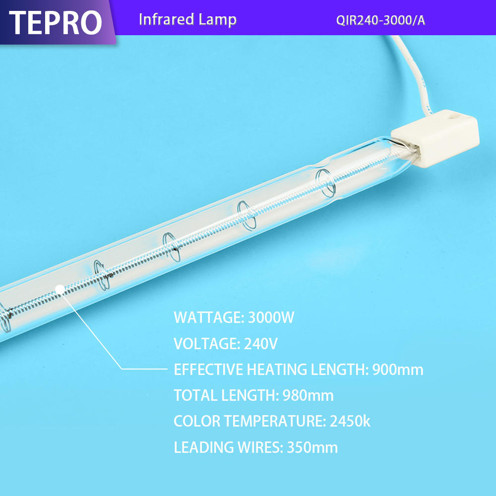 Infrared Lamp QIR240-3000A Yellow White Pink