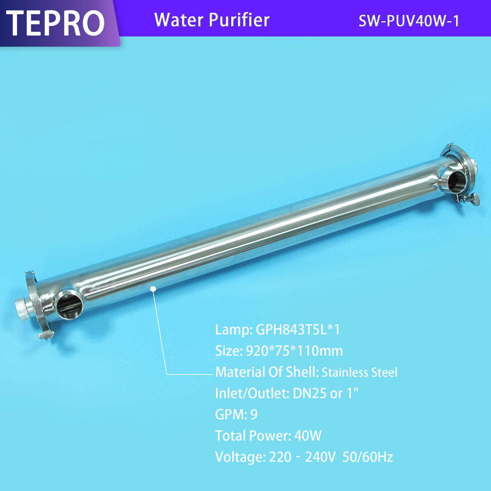 Drinking water Ultraviolet Water Purifier Factory  SU-PUV40W-1