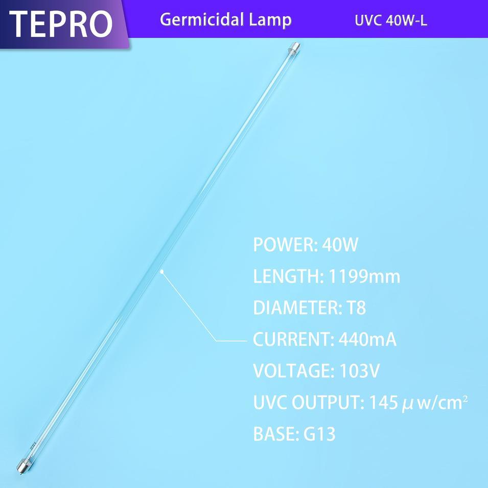 Ultraviolet Lamp Diameter 25mm Aluminum Cap G13 UVC 30W-L