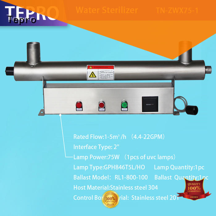 Tepro quality ultraviolet light water purifier supplier for pools