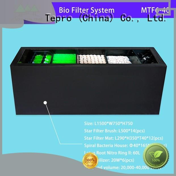 Tepro bio filter system performance for pools