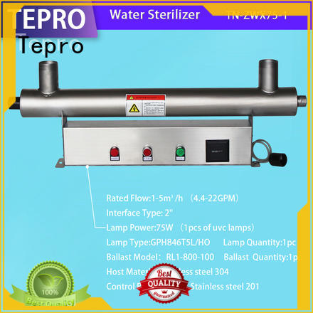 Tepro ultraviolet water purification system manufacturer for hospital