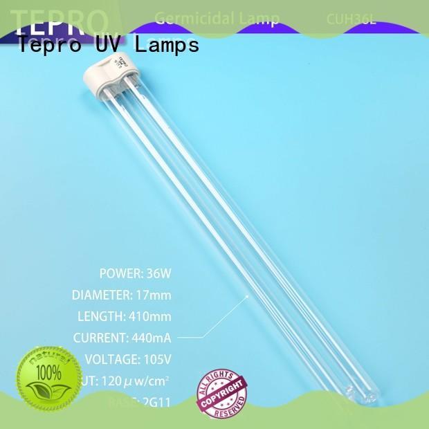 Tepro water purifier uv tube light design for hospital