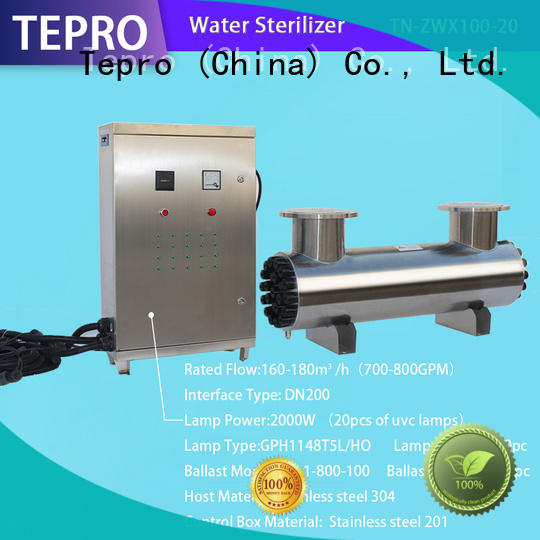 Tepro bactericidal uv water systems factory for pools