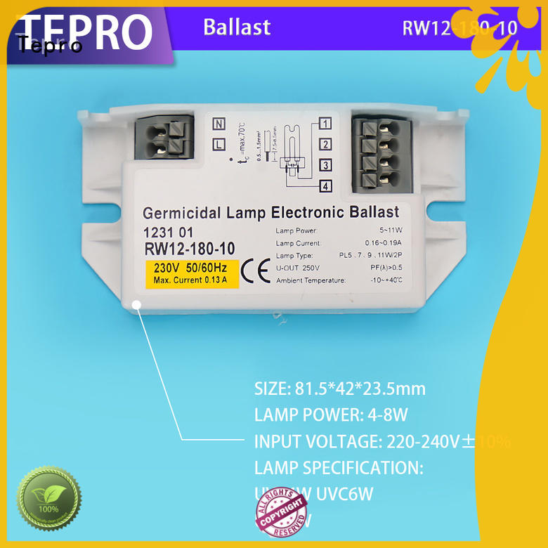 Tepro quality uv lamp electronic ballast system for factory