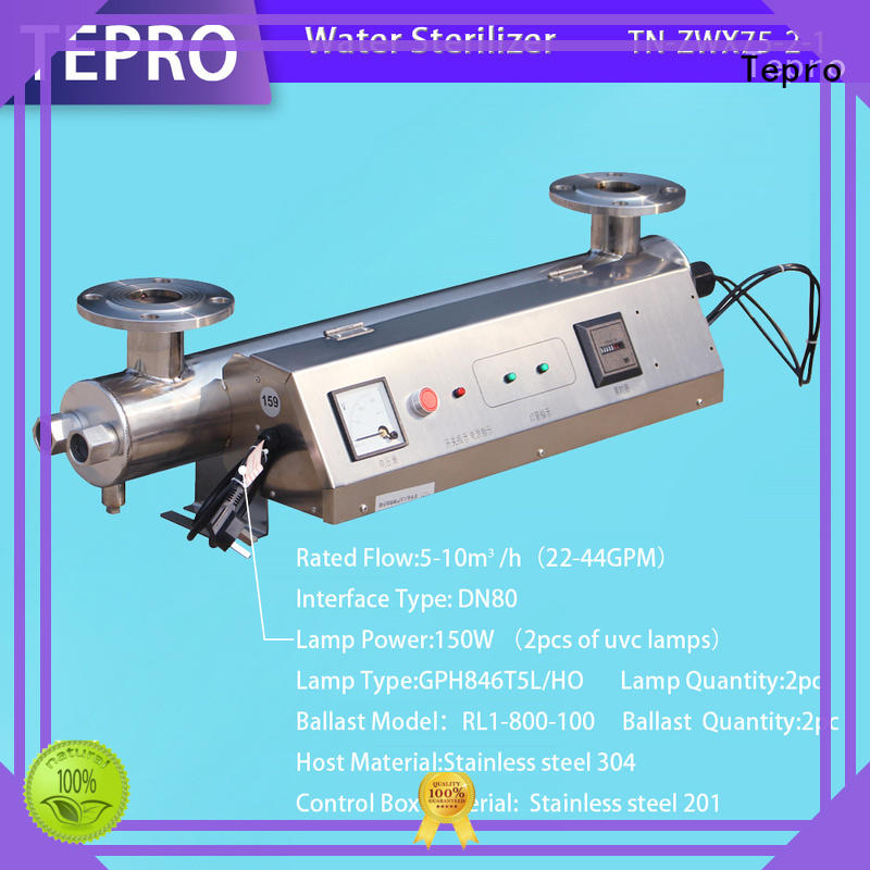 Tepro ultraviolet light water treatment manufacturer for hospital