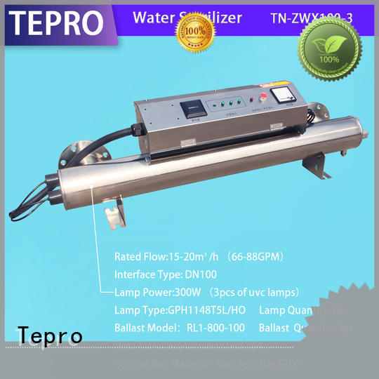 Tepro whole house uv water filter types for hospital