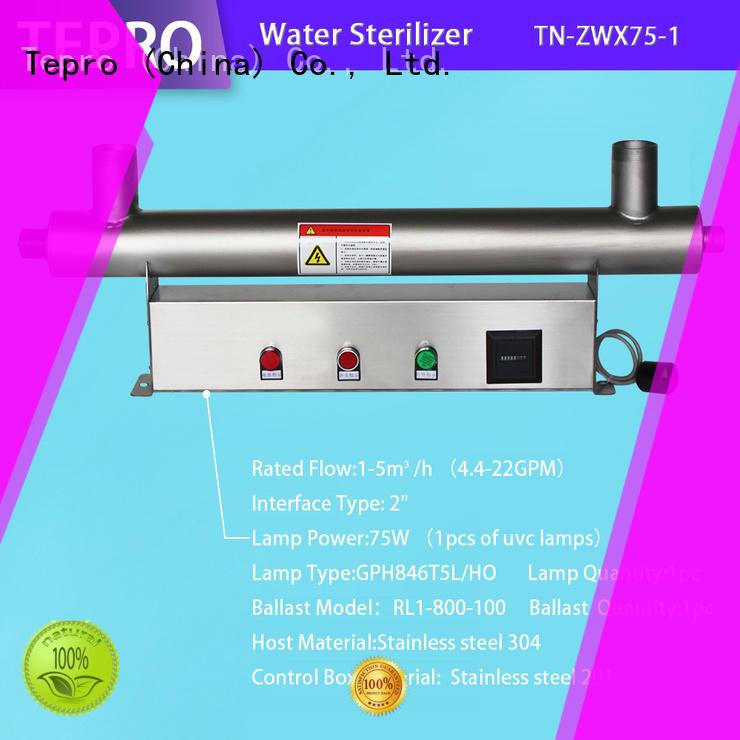 bactericidal uv water filter system types