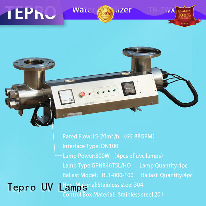 Tepro submersible uvc light design for hospital