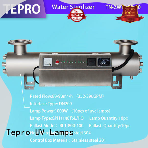 Tepro double ends portable uv lamp design for pools