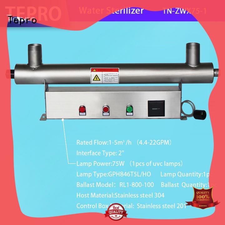 Tepro amalgam ultraviolet light water purifier manufacturer for hospital