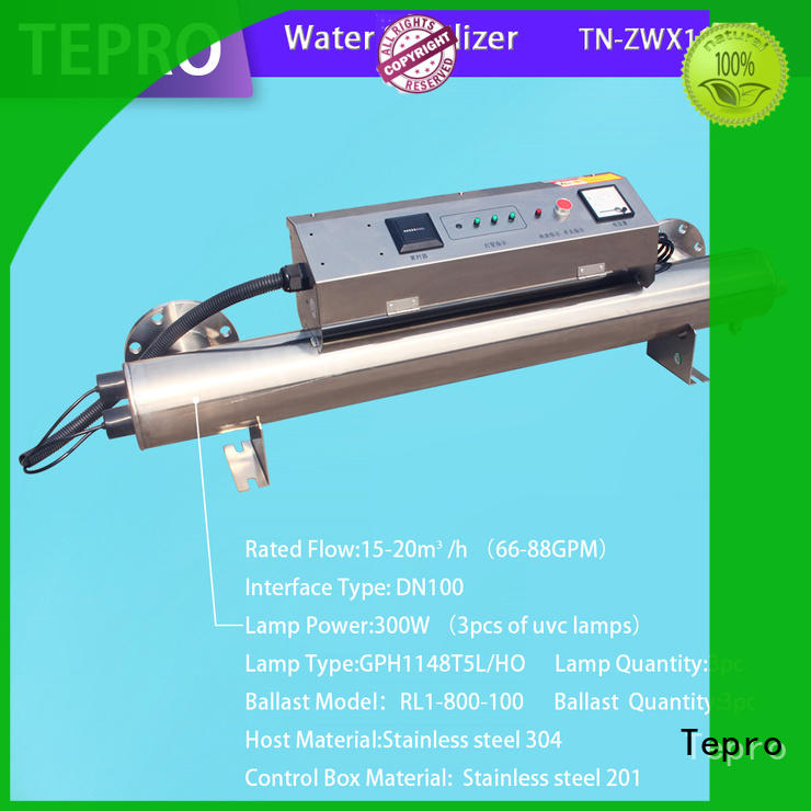 Tepro 810mm ultraviolet light water purifier customized for aquarium