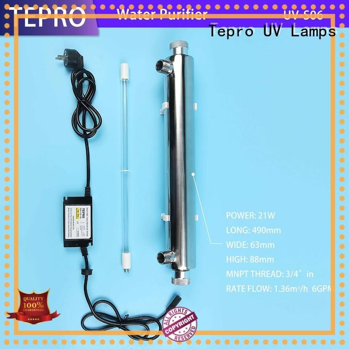 Tepro uv light water treatment supplier for pools