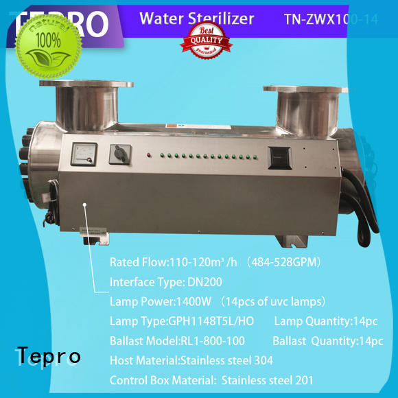 Tepro bactericidal ultraviolet light water purifier supplier for fish tank