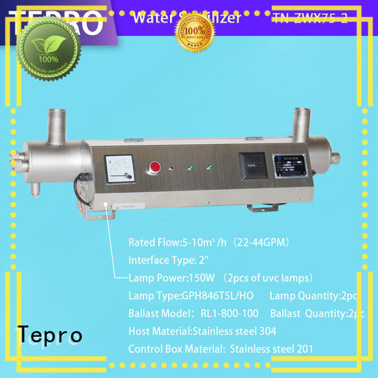 Tepro single pin uv air filter supplier for hospital